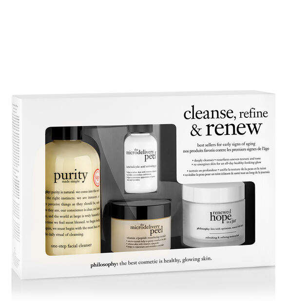 cleanse- refine & renew kit