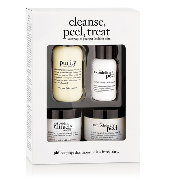 cleanse- peel- treat trial kit